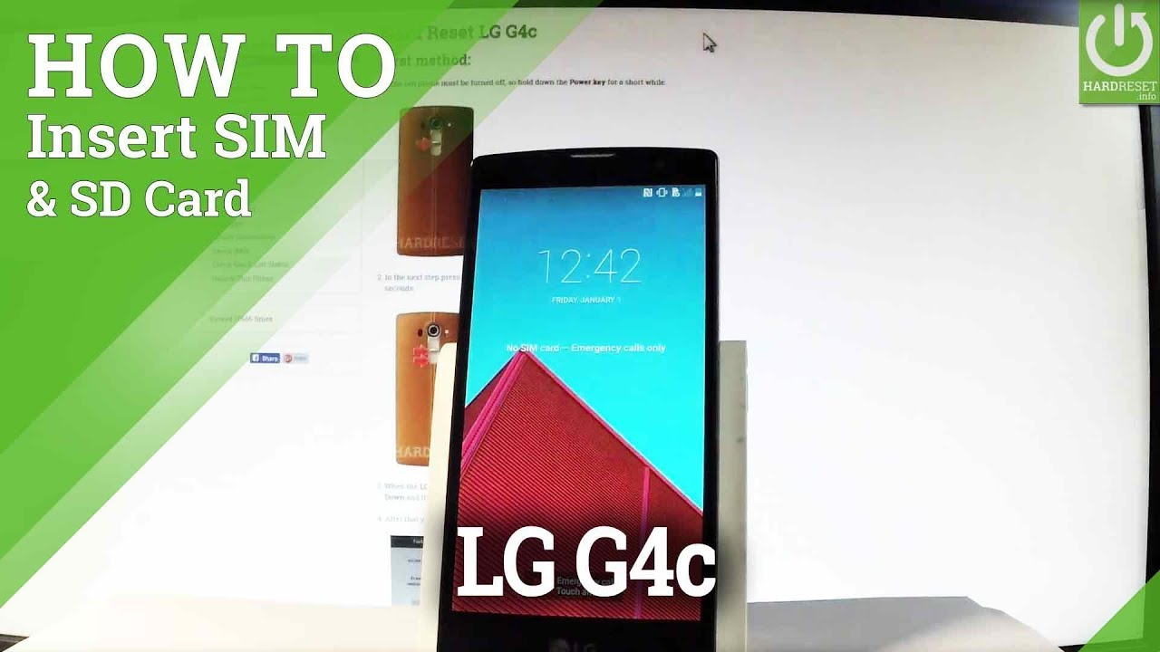 How to Insert SIM & SD in LG G4c - Find Micro SIM & Micro SD Slot