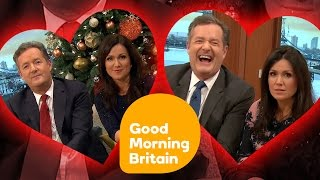 Piers Morgan and Susanna Reid Kisses And Near Misses! | Good Morning Britain
