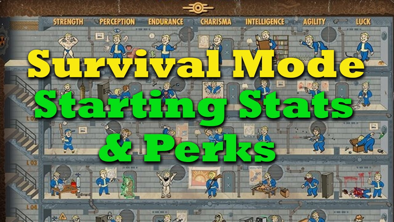 Surviving Survival Mode Ep  1: Starting Stats & Perks - Fallout 4 Tips &  Tricks