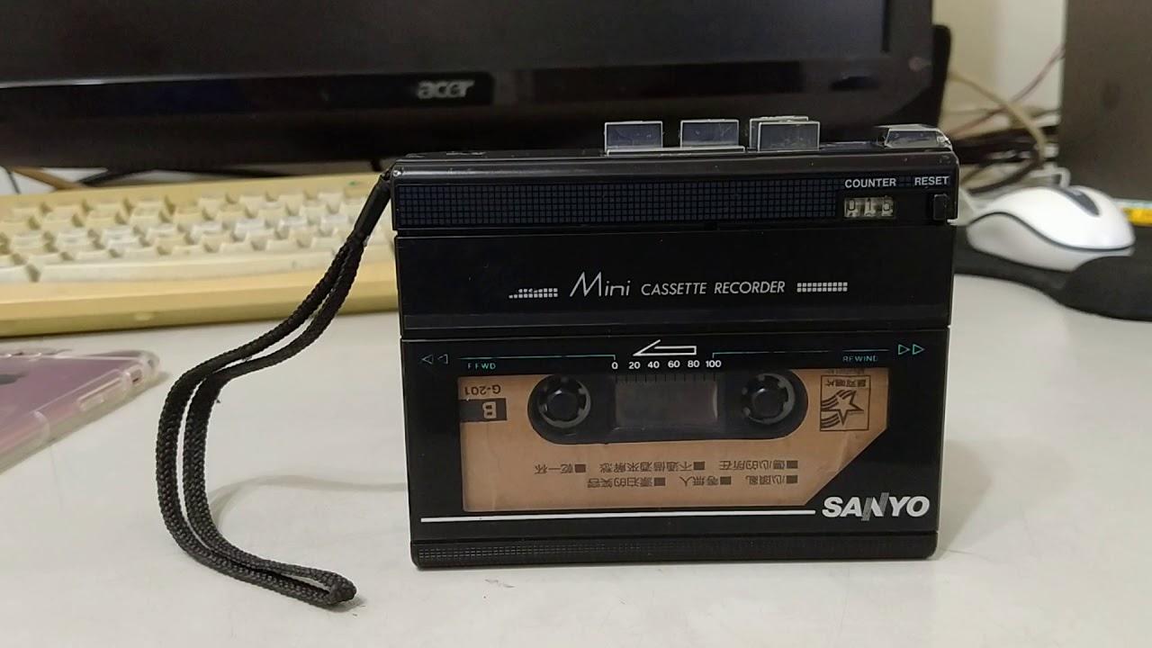 SANYO M1120 卡式隨身聽 (龍安麗主唱 心頭亂) - YouTube