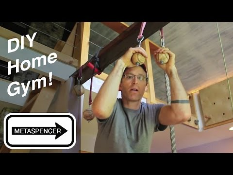 DIY Home Gym Workout Room For Climbing, Crossfit & Gymnastic