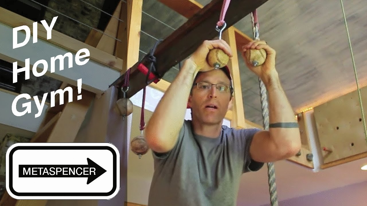 Diy home gym workout room for climbing crossfit gymnastics