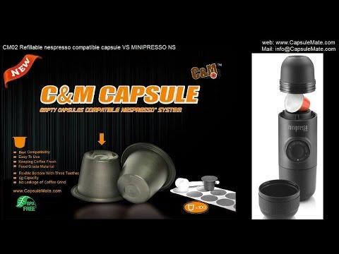 CM02 Refillable nespresso compatible capsule VS MINIPRESSO NS