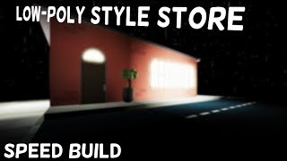{Speed Build} Roblox Low-Poly Store