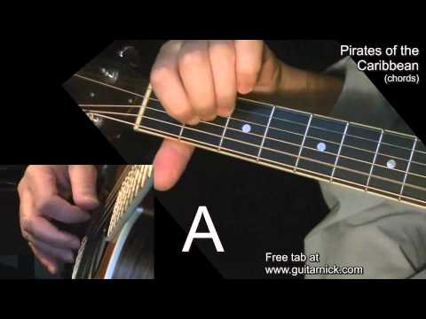 PIRATES OF THE CARIBBEAN (chords) Guitar Lesson + TAB by GuitarNick
