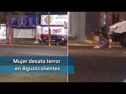 Mujer roba fusil de asalto a policía y dispara contra civiles en Aguascalientes