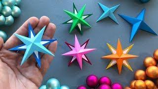 Weihnachten basteln mit Papier: Sterne ⭐ Weihnachtsdeko selber machen