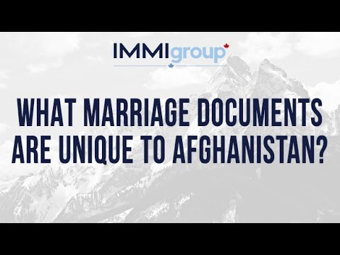 What marriage documents are unique to Afghanistan?