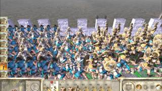 Rome Total War Online Battle #1995: Spain vs Thrace (Live-Commentary Siege)