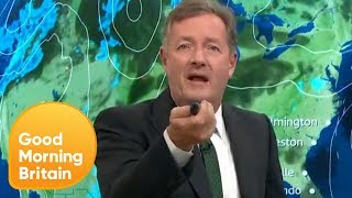 Piers Morgan Takes Over Laura's Weather Report! | Good Morning Britain