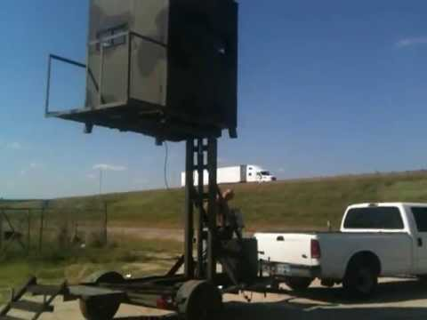 Portable Deer Hunting Hydraulic Blind Youtube
