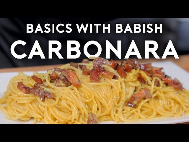 Carbonara | Basics with Babish