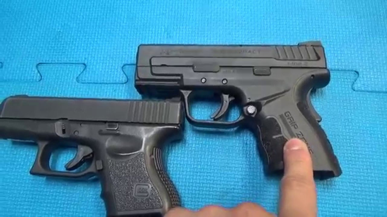 Glock 26 Vs Springfield Xd 45 Subcompact Youtube