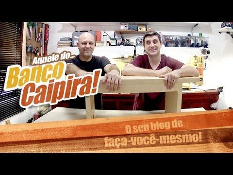 Como fazer um banco de madeira caipira empoeirados youtube for Como criar caracoles de jardin