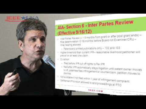 IEEE-USA: Robert Sterne - Leahy-Smith America Invents Act Overview
