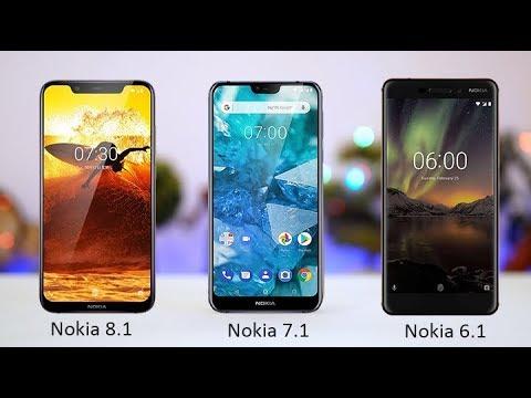 NOKIA 8.1   VS    NOKIA 7.1    VS   NOKIA 6.1