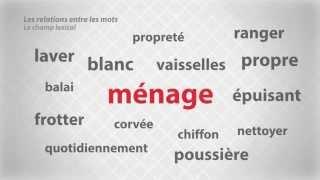 Les relations entre les mots - Le champ lexical