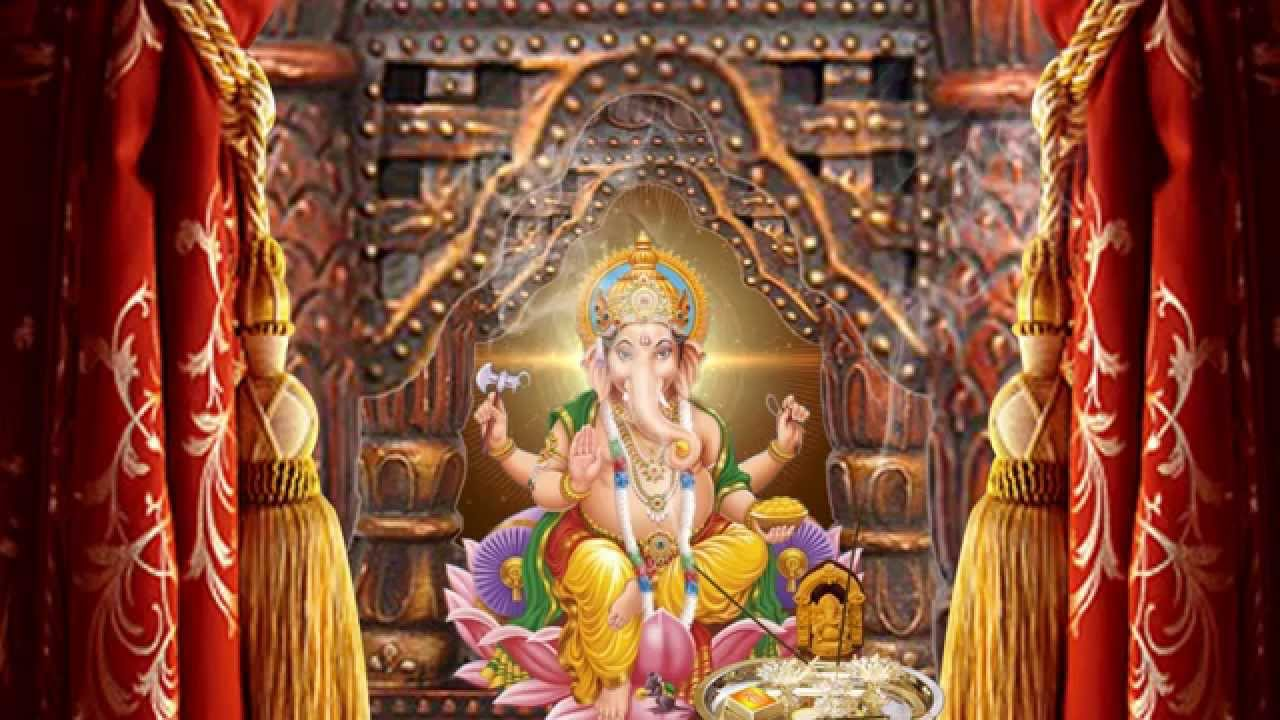 Ganesh decoration joy studio design gallery best design for Background decoration for ganpati