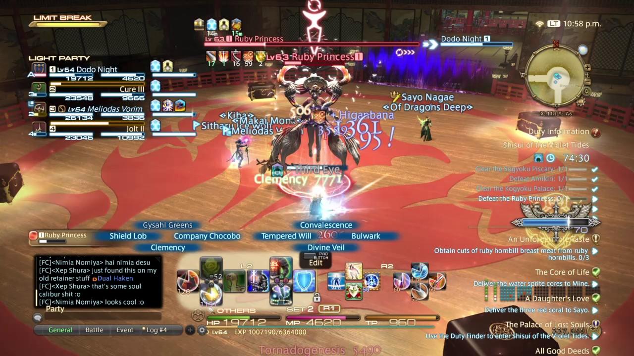 FF14 Stormblood violet tides - 2nd boss Ruby Princess