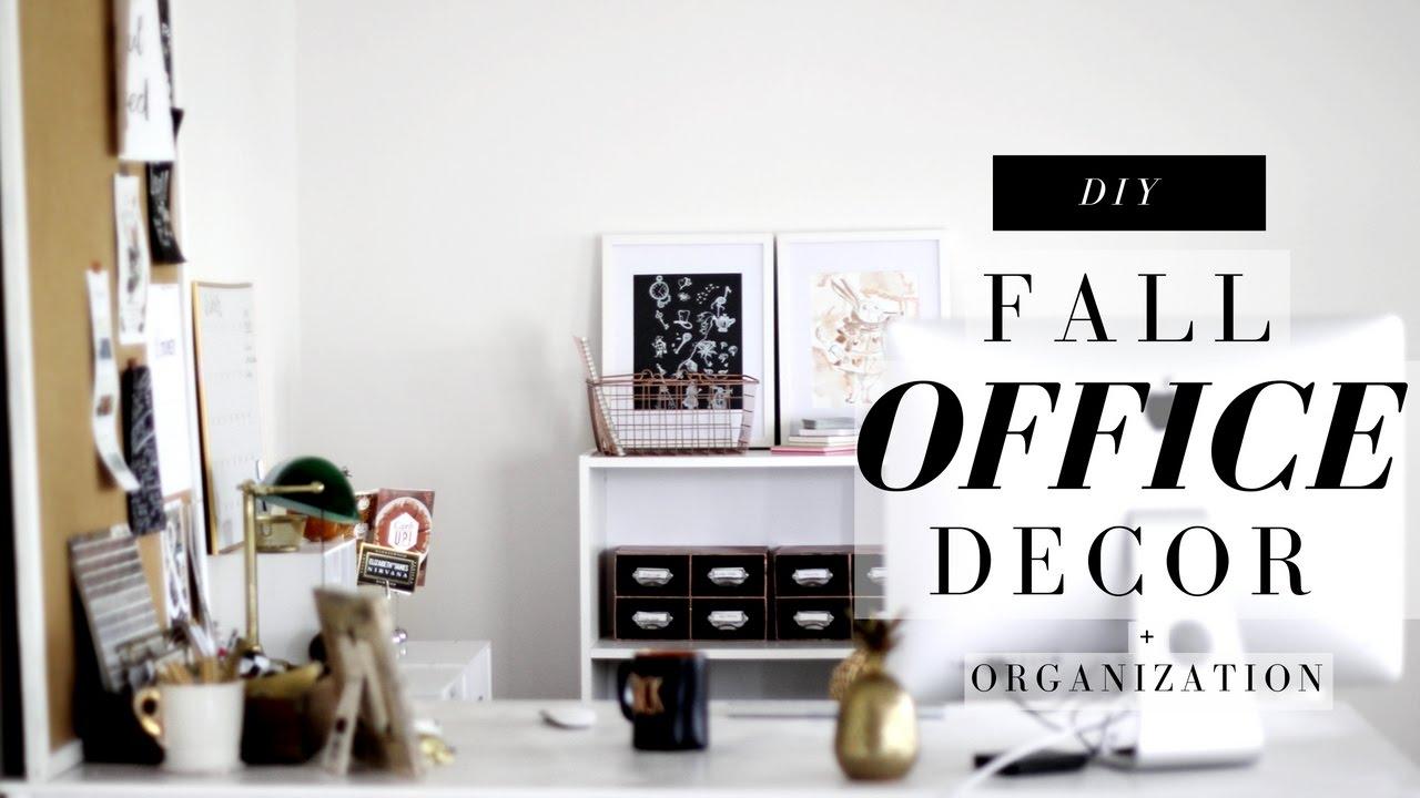 diy desk office decor organization for fall. Black Bedroom Furniture Sets. Home Design Ideas
