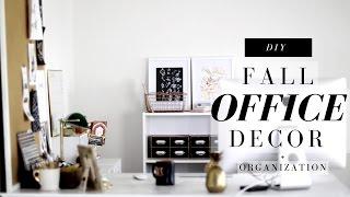 DIY Desk + Office Decor + Organization for Fall   Anthropologie Inspired