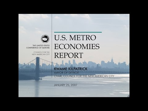 U.S. Metro Economies Report: Gross Metropolitan Product, January 2007 (PowerPoint presentation)