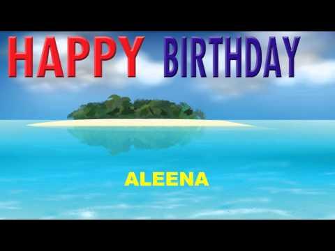 Aleena  Card Tarjeta  Happy Birthday