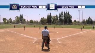 Fullerton Hills vs Chino Hills Softball - PYL Tournament - 8u AllStars 2015 - Semifinals