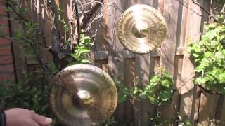 Two Tuned gongs by Steve Hubback 2015