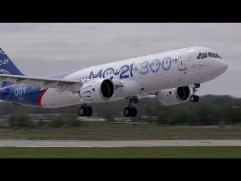 New Russian Irkut MC-21 Narrowbody Airliner Makes First Flight – AINtv