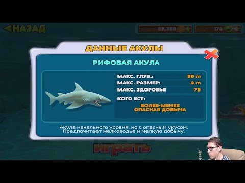 Прохождение HUNGRY SHARK EVOLUTION 1 - РИФОВАЯ АКУЛА [Reef Shark]