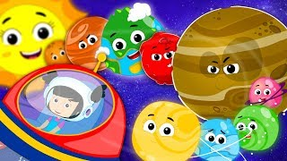 The Planets Song | Solar System Song | Zebra Nursery Rhymes For Children & Kids