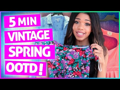 5 MINUTE SPRING OUTFIT CHALLENGE | Vintage Revamp w/ Teala Dunn