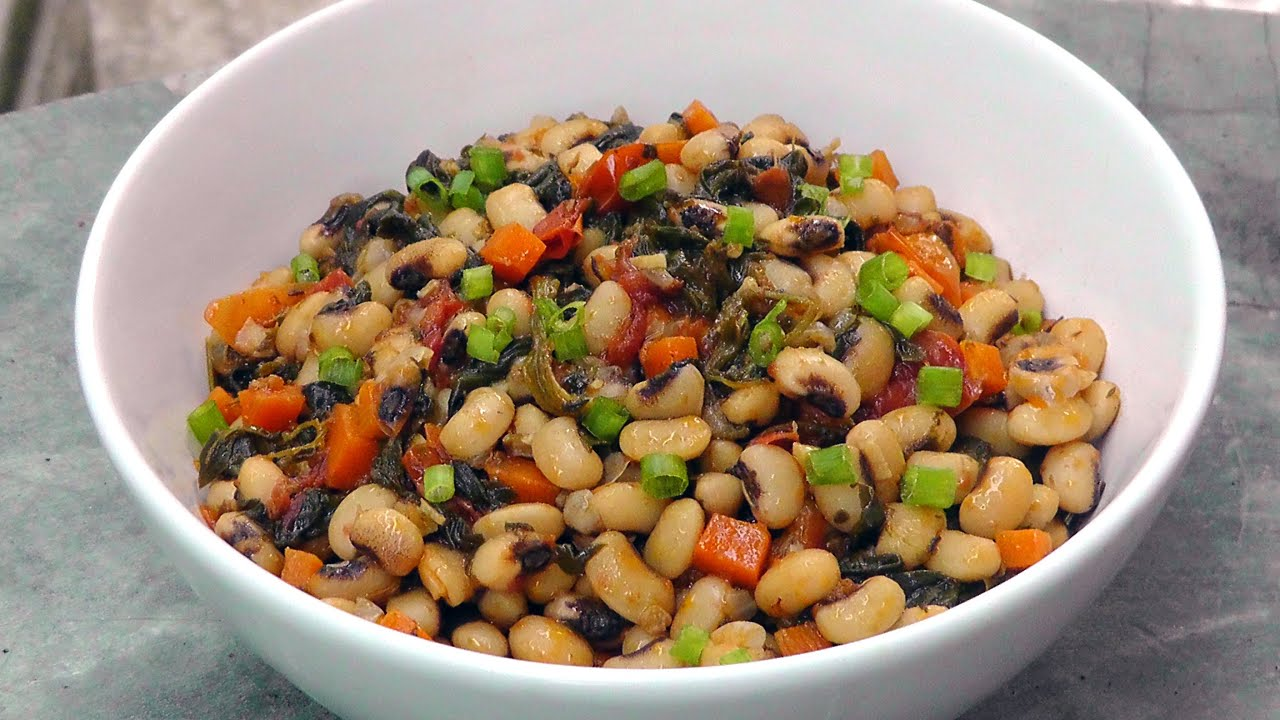 Greek black eyed peas with spinach vegan vegetarian recipe youtube forumfinder Choice Image