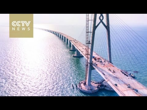 World's longest cross-sea bridge in S China close to completion