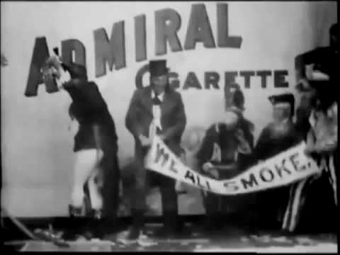 Admiral Cigarette 1897 - World's 1st Commercial on Film