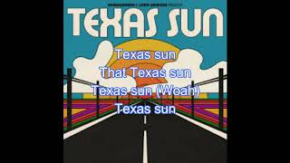 Gambar cover Khruangbin & Leon Bridges - Texas Sun (Lyrics)