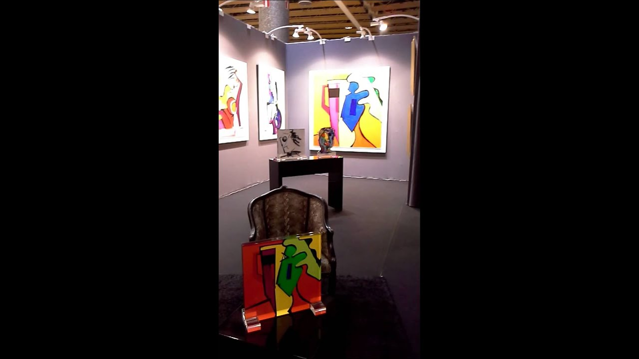 video jorge colomina artiste peintre au salon d 39 art. Black Bedroom Furniture Sets. Home Design Ideas