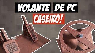 VOLANTE DE PAPELÃO COM PEDAIS PARA PC #HARDPOBRE
