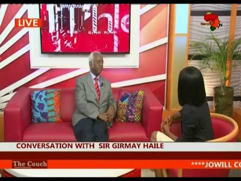 """Sir Girmay Haile on """"The Couch"""" with Ama Pratt - Pan African TV"""