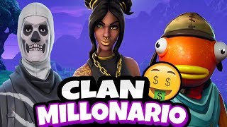 I TRY TO ENTER THE MILLIONAIRE CLAN WITHOUT SKIN IN FORTNITE