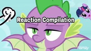 MLP:FIM S8 E11 - Spike Get Wings - Reaction Compilation