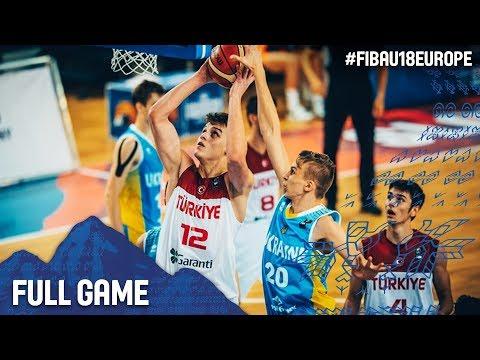 Turkey v Ukraine - Full Game - Round of 16 - FIBA U18 European Championship 2017