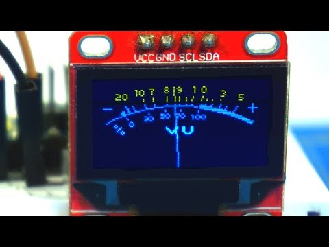 Arduino проект для начинающих. VU Meter с OLED дисплеем. Techn0man1ac #2