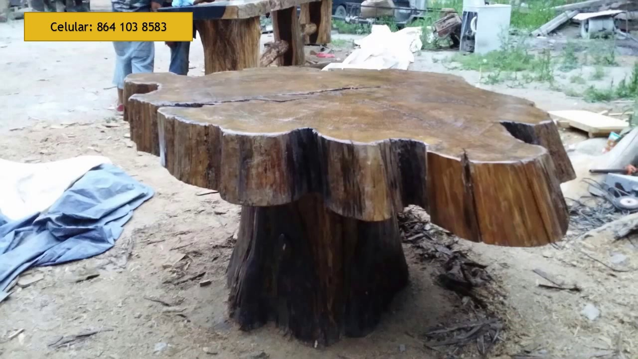 Mas muebles rusticos youtube for Bar rustico de madera nativa