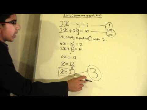 Aadil Academy - Simultaneous equations question 1