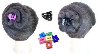 2 cute hairstyle help of clutcher | everyday juda hairstyle | hair style girl | simple hairstyle