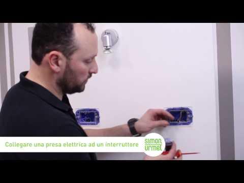 Schema Elettrico Presa Interruttore Lampadina : Come collegare una presa elettrica ad un interruttore simon urmet