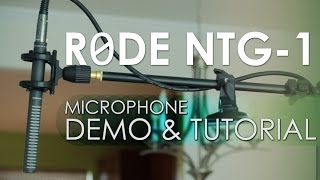 Rode NTG-1 Microphone into a Zoom H4n for Dual Sync High Quality DLSR Audio for Video