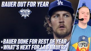 Trevor Bauer's Season iṡ Over With Dodgers, LA's Options With Bauer's Contract, Will He Opt Out?